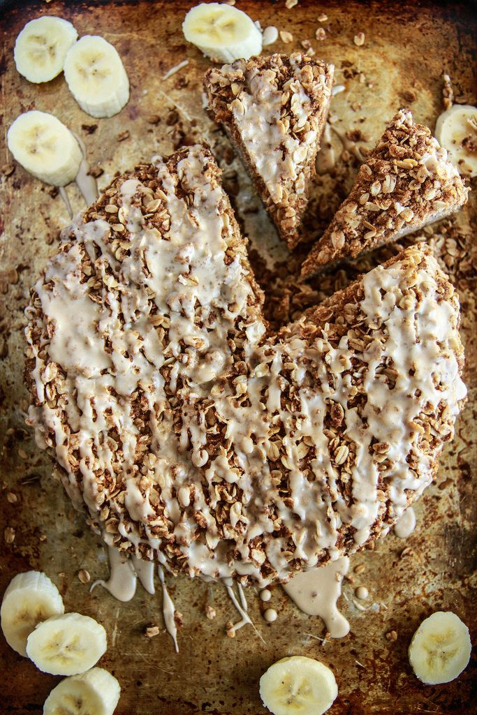 Banana Streusal Coffee Cake- Vegan and Gluten Free from HeatherChristo.com