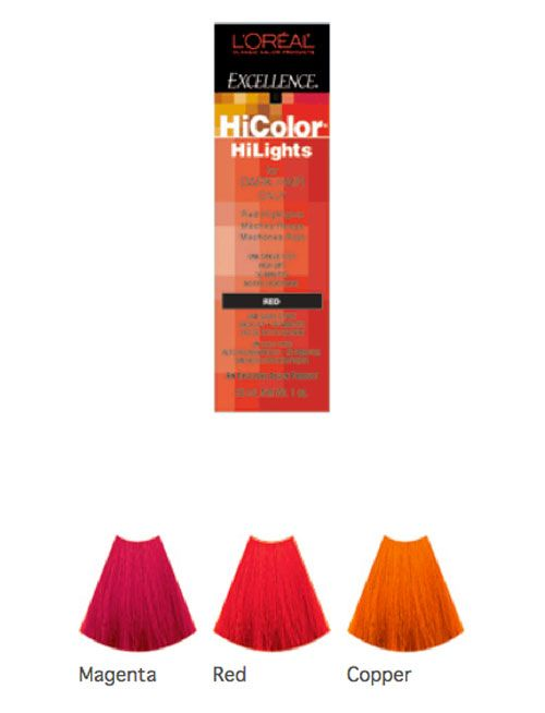 HAIR DYE  LOreal Excellence HiColor HIGHLIGHTS Shade Chart  Permanent Cre