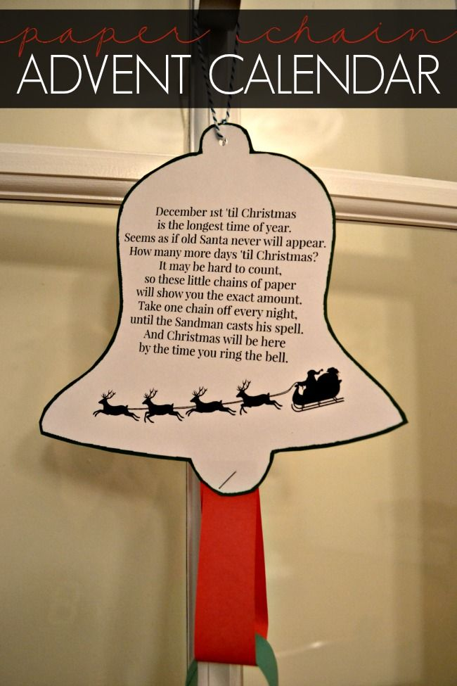 Looking for a simple way to countdown to Christmas? How about a classic paper chain advent calendar?