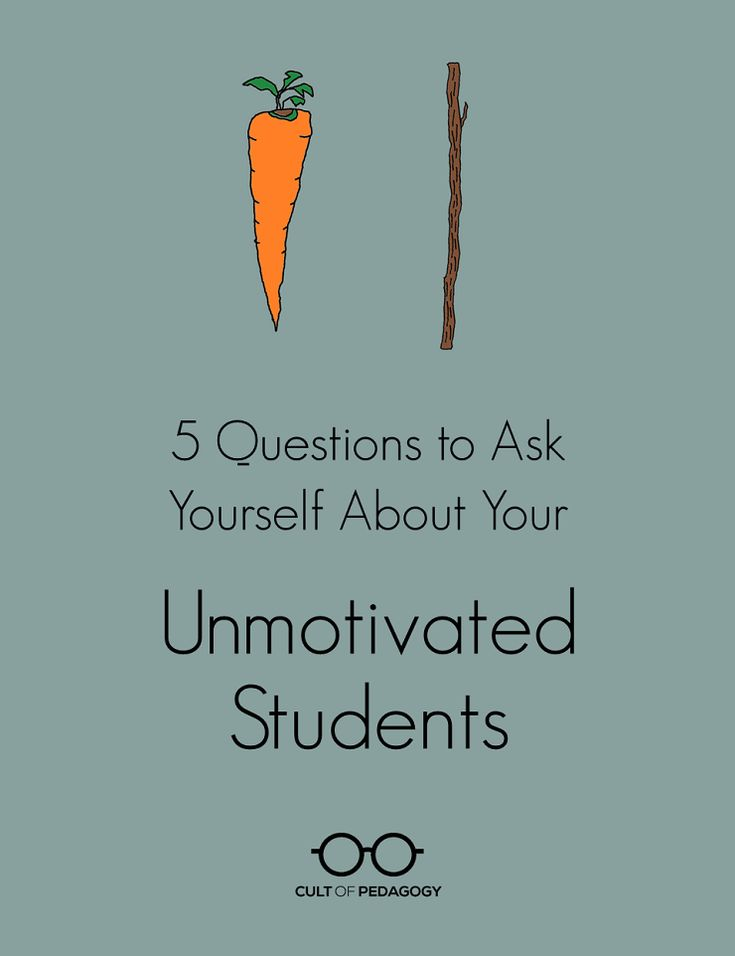 5 Questions to Ask Yourself About Your Unmotivated Students - If we know what works to motivate students, why are so many students still unmotivated? These five questions will help you determine if your practice is really in line with research.