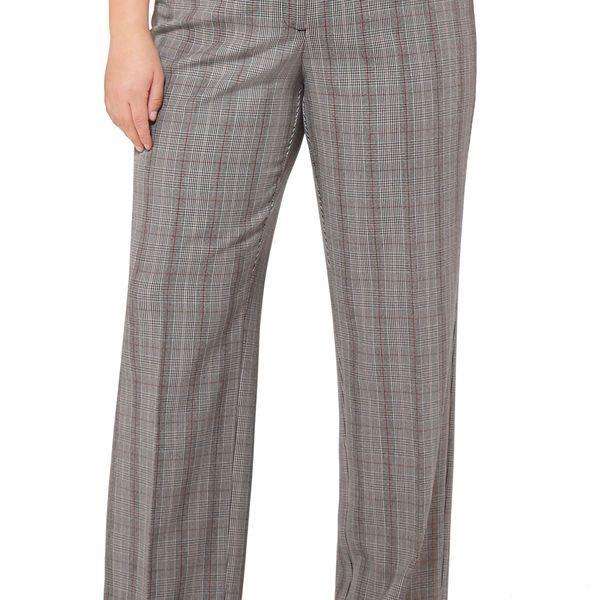Glen Plaid No Gap Trouser Pant-Plus Size Pant-Avenue