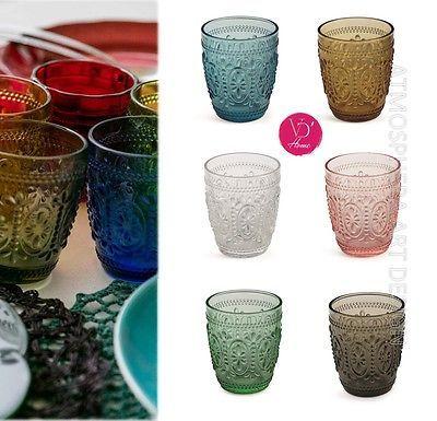 OFFERTA SPECIALE! VILLA D'ESTE Set 6 Bicchieri Imperial in vetro colorato