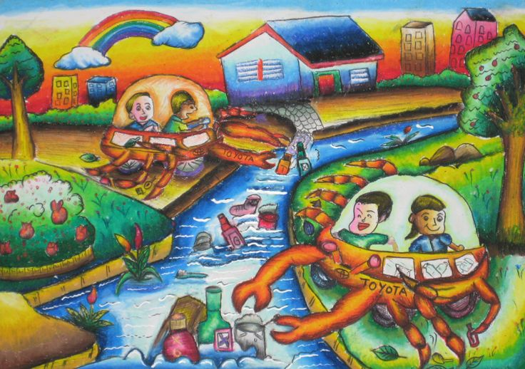 'Garbage Cleaner Car' by Tan Wan Ling, Aged 7, Malaysia: 4th Contest, Bronze #KidsArt #ToyotaDreamCar