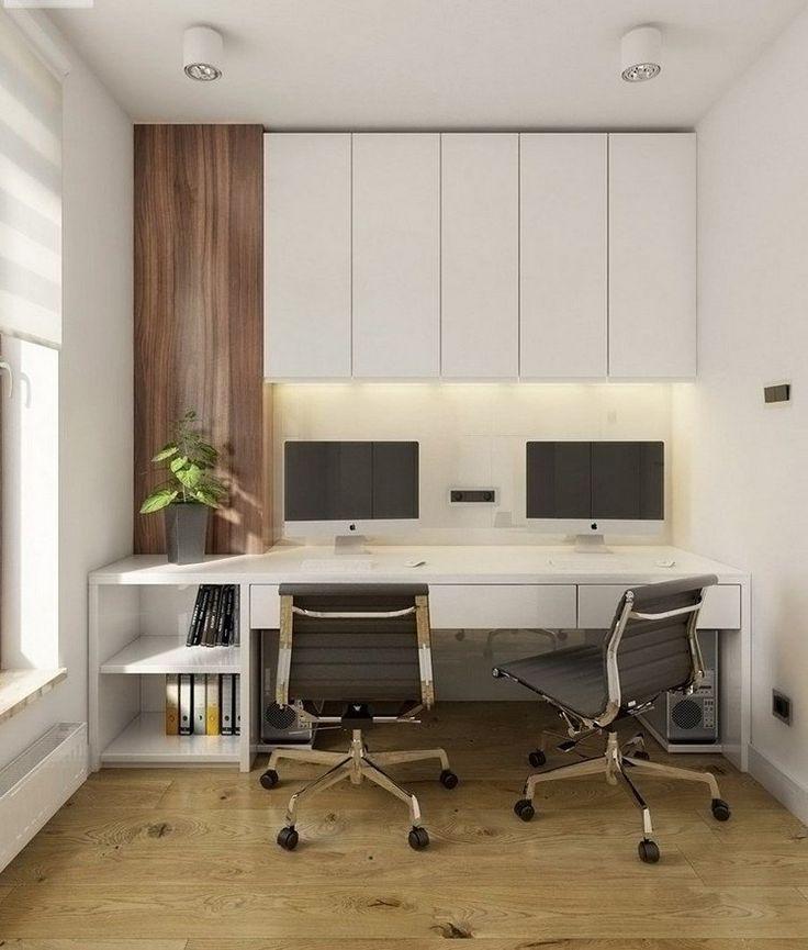 Perfekt Arbeiten Von Zuhause Arbeitsbereich Gestalten Weisser Schreibtisch  Oberschraenke
