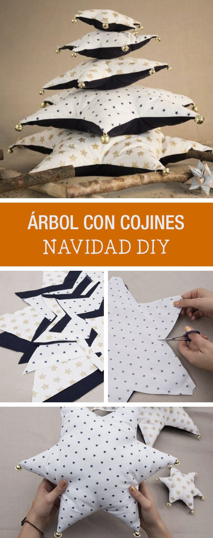 Tutorial DIY: Cómo hacer un árbol de Navidad con cojines- Costura en DaWanda.es