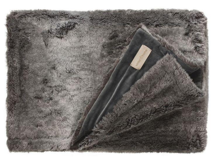 Koc futrzany/narzuta Winter Home Timberwolf 240x240