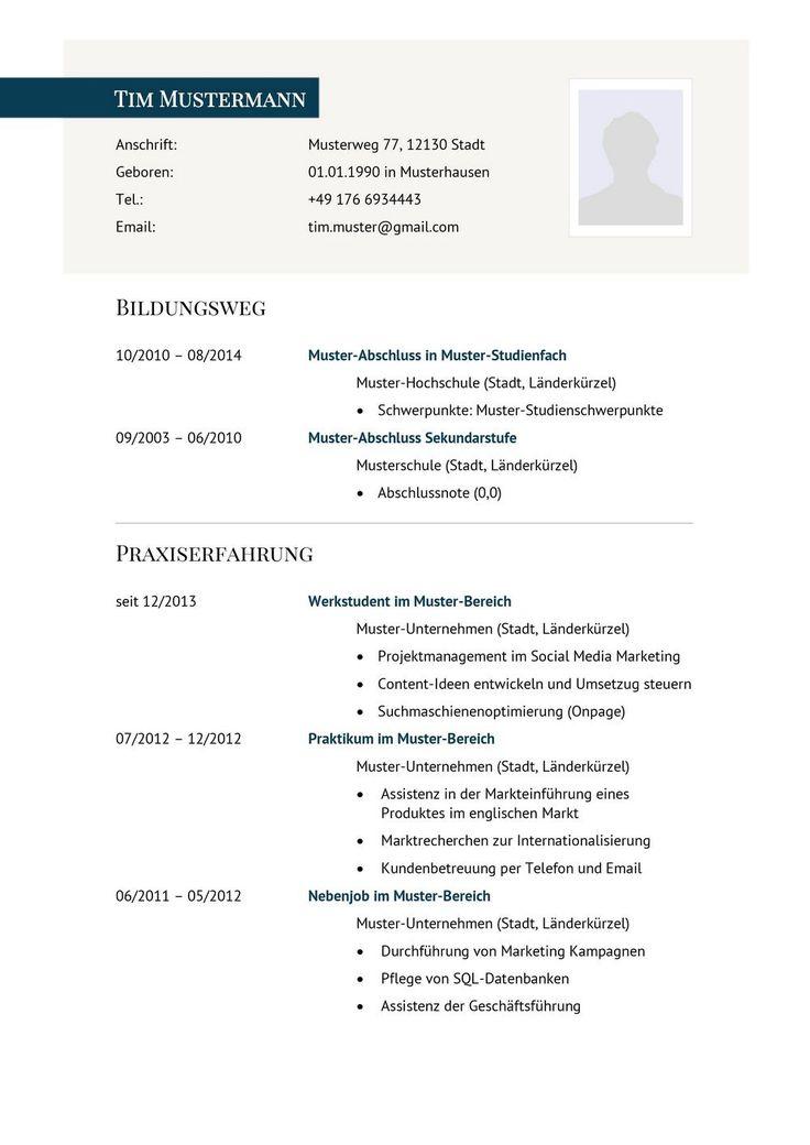 lebenslauf muster vorlage 29 manager 1 - Lebenslauf Form