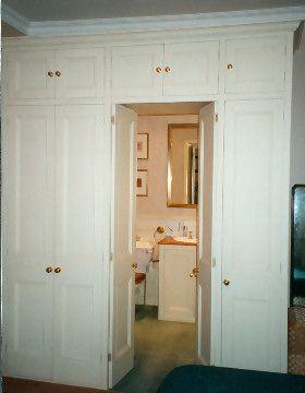 Wardrobe door to bathroom
