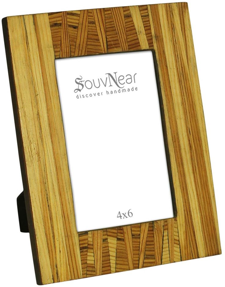 rectangular photo frame in brown handmade in mdf wood table top accessories