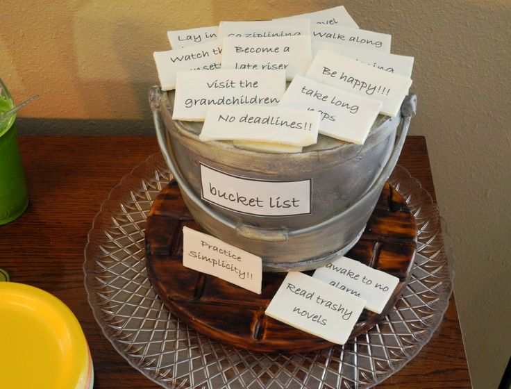 """Create """"bucket list"""" - what should Joan do now that she's retired? People always like something fun. Could do at entrance and have Joan read at end."""