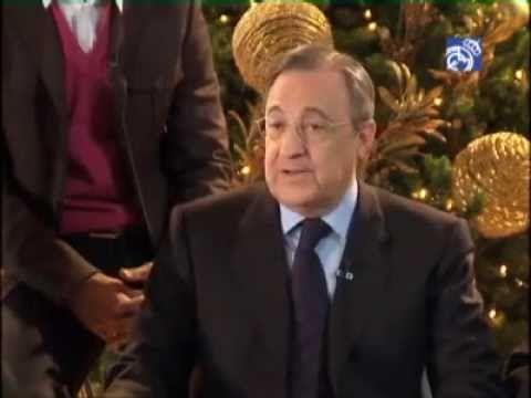 Real Madrid  Florentino Perez y la plantilla del Real Madrid felicita la Navidad a los aficionados blancos