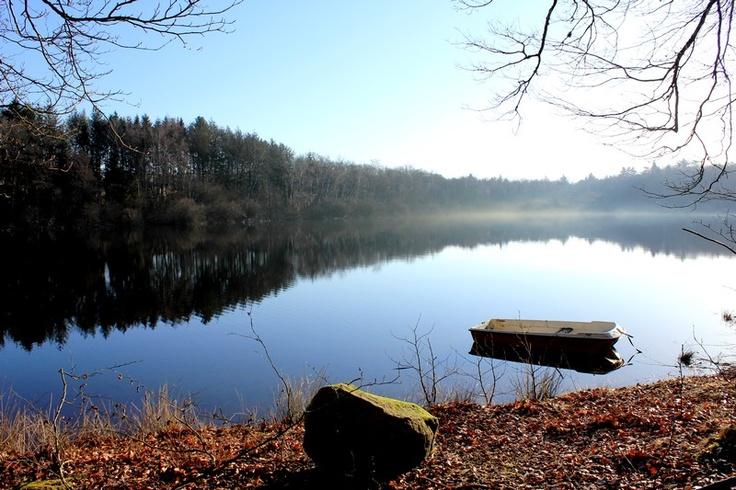 Le Lac des Settons, un matin de fin d'hiver