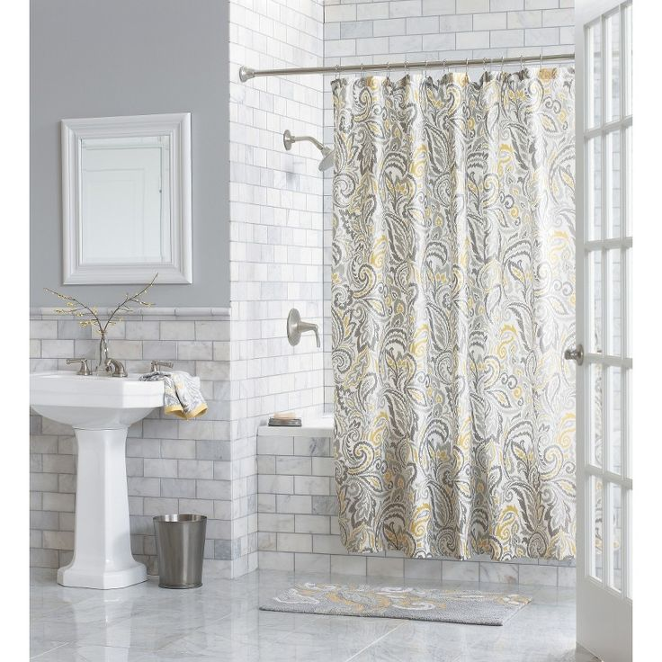 Paisley Shower Curtain Threshold Yellow Showers And