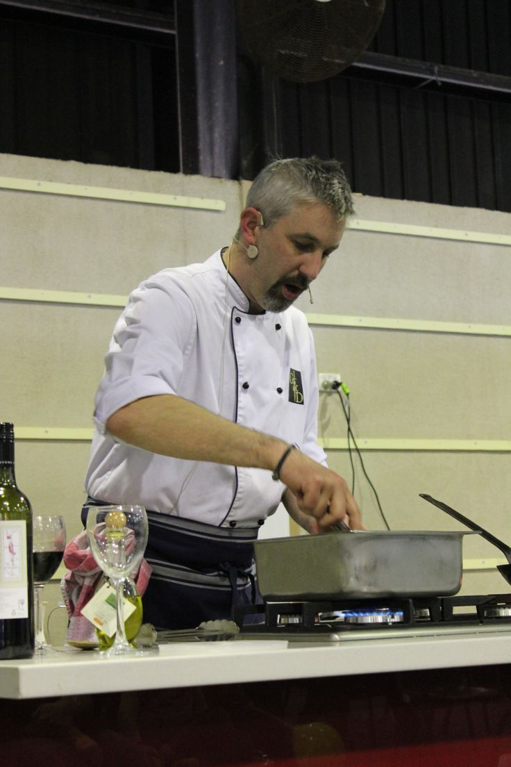 Gavin Forman chef from the Old George and Dragon at the 2013 Newcastle Home Show.