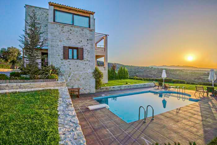 """Welcome to beautifull """"Oreades"""" villas in Rethymnon. The name Oreades, comes from ancient Greek mythology which means nymphs of the mountains. And indeed these two unique villas in Rethymnon of Crete, of stone architecture, emerge as nymphs"""