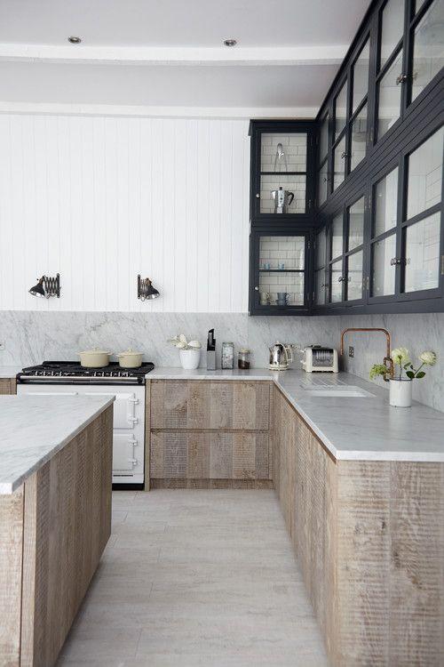 Carrara marble countertops and full height backsplash - Kitchen Trends 2015