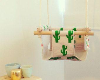 Indoor/ Outdoor baby swing - Cactus print