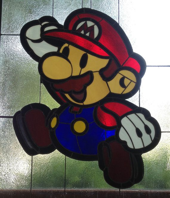 Stained glass video game art. Don't know why it's $900 though.