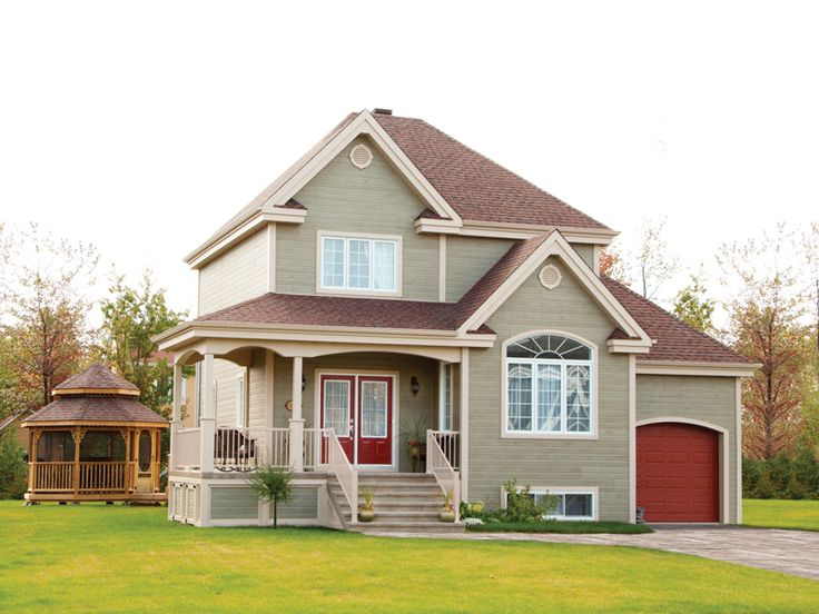 Charming home with dark red accents - plan 032D-0474 - houseplansandmore.com