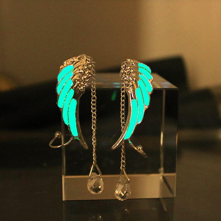 Magical Glow In The Dark Fairy Wings Earrings