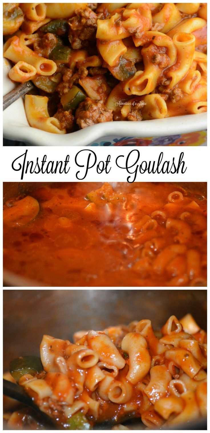 pressure cooker goulash. I'd leave out the zucchini & mushrooms, maybe add crushed tomatoes.