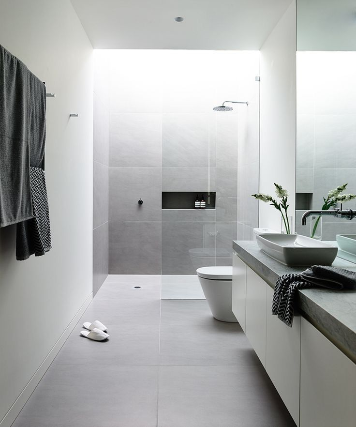 105 besten Bad Bathroom Bilder auf Pinterest Badezimmer, Halbes - inspirationen schwarz weises bad design
