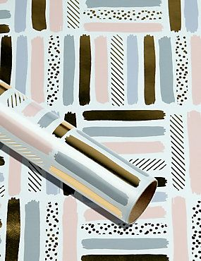 Contemporary Striped Roll Wrap