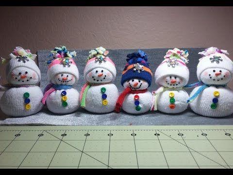 DIY~Adorable Dollar Store Toddler Sock Snowmen or Snow babies! - YouTube