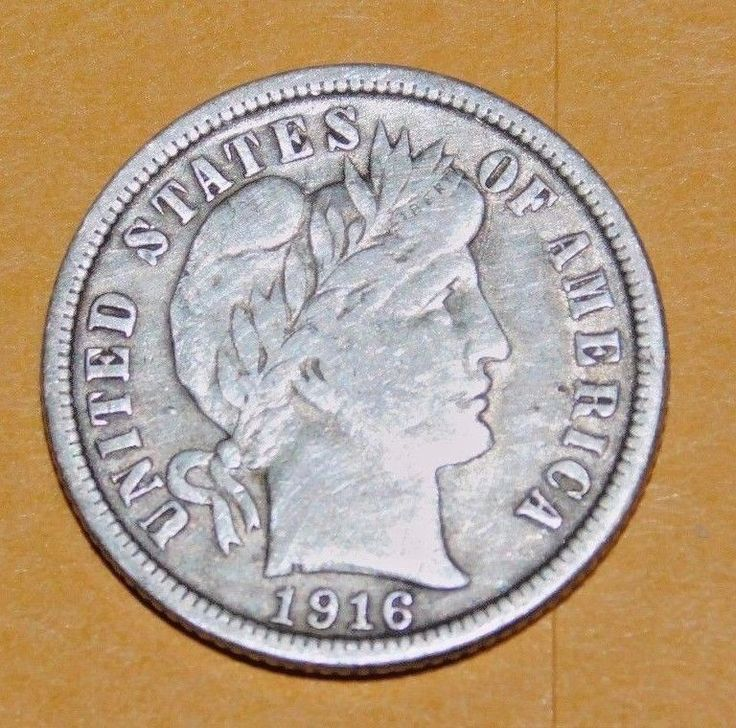 1916 United States Silver Dime Lot No. 203- VF