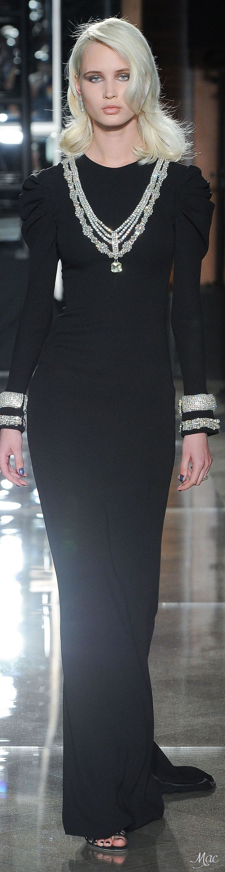 58 Best Fashion Ad Hoc Images On Pinterest Store Black Floral French Cuff Spring 2018 Reem Acra From The Bridal Collection