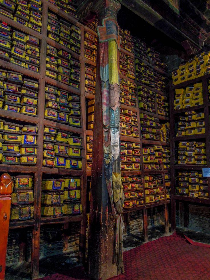 Monastery library in Tibet