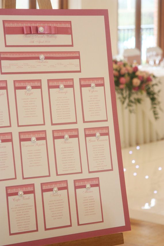 Wedding Table Plan 'Purlesque' Range by Personaleyours on Etsy, £50.00