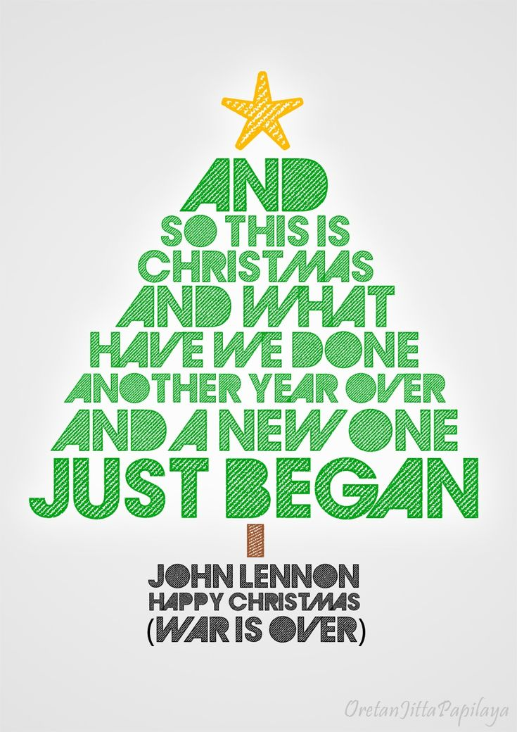 Happy Christmas (War Is Over) - John Lennon Lyric Quote #Quote #Johnlennon #Christmas