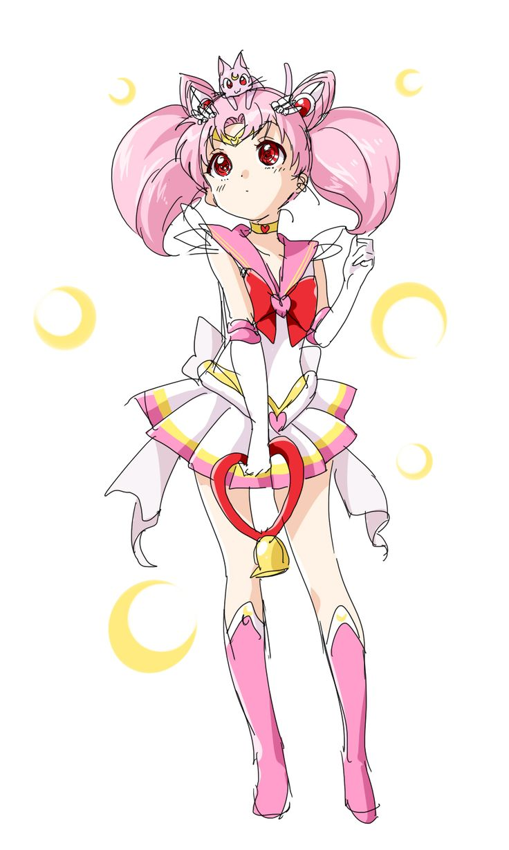 Yuruyuri's Namori Draws Fanart of Sailor Chibi Moon