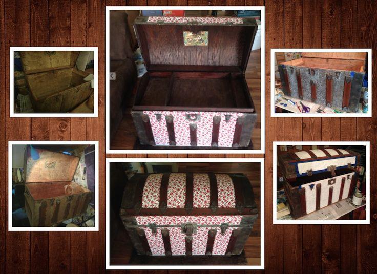 Antique chest/trunk restoration. Originally bought for $25