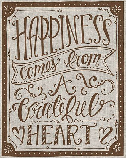 'Happiness Comes From a Grateful Heart' Canvas   Positive ...
