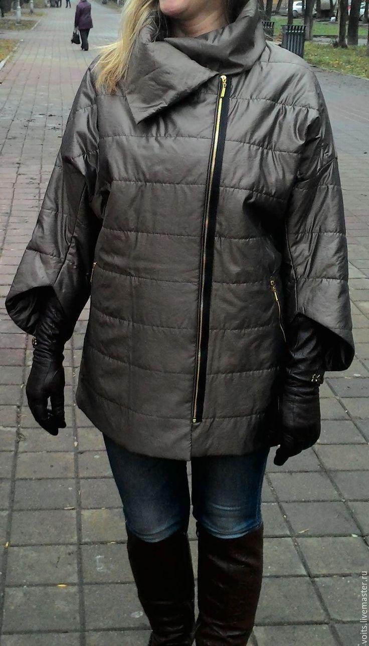 Купить Куртка на весну, цвет бронза - хаки, однотонный, куртка, куртка женская, куртка на молнии