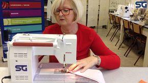 Leerkracht Mode van CVOSG uit Brugge leert je stap per stap hoe je een mooie spitse kraakpunt van bloes of hemd zelf kunt maken.