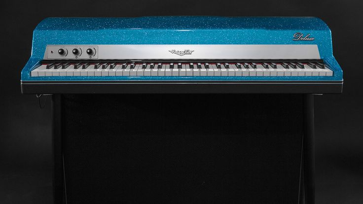 """Royal Blue Sparkle Vintage Vibe Piano  ✨ """"• 73 Keys • Active Preamp • Stereo Console Attachment """" Learn more about Vintage Vibe Pianos here: https://www.vintagevibe.com/products/vintage-vibe-tine-piano"""