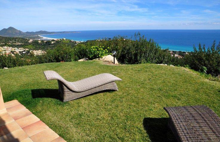 Garden with an amazing view    #costarei #sardegna #vacanze #mare #sea #holiday #italy #sardinia #sardolicesimo #panorama #travel #traveltips
