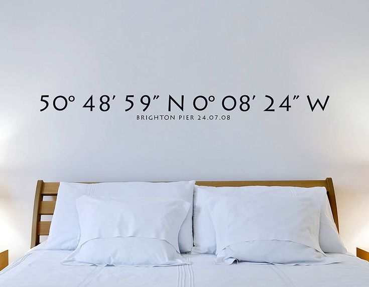 Remember a special place with this personalised coordinates wall sticker