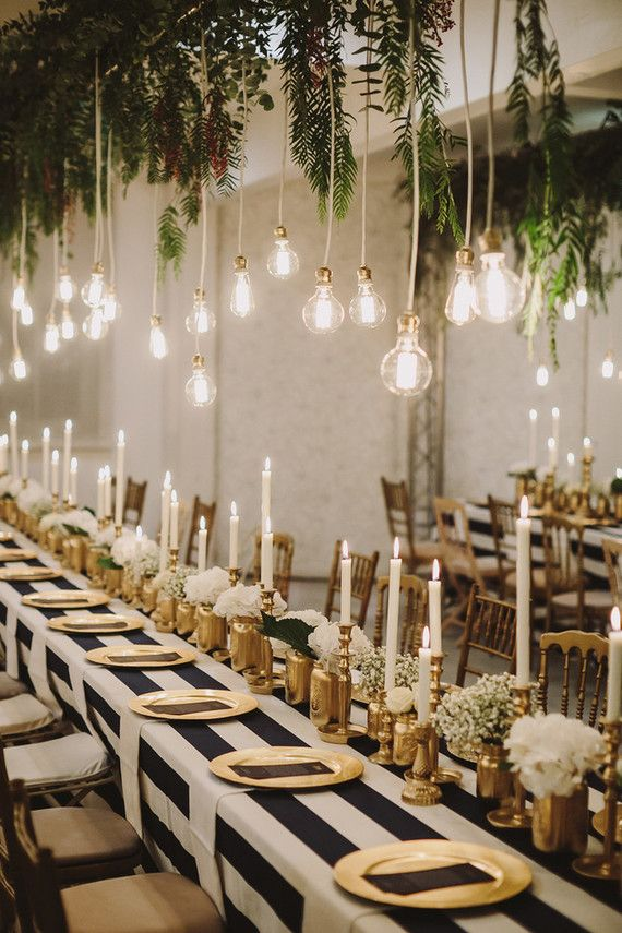 Magical wedding lighting