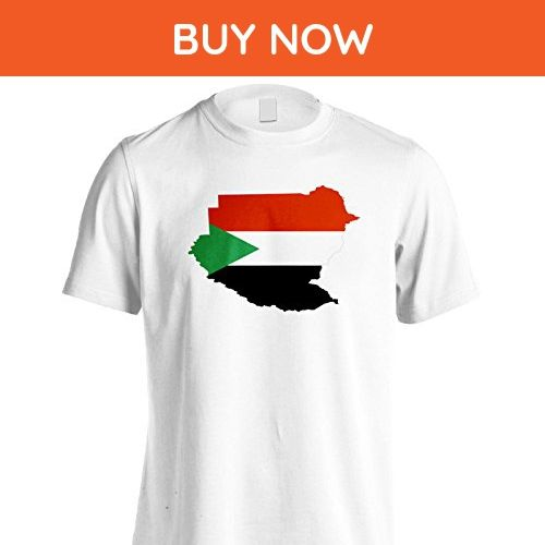 New Sudan Flag World Map Art Men's T-Shirt Tee i642m - Cities countries flags shirts (*Amazon Partner-Link)