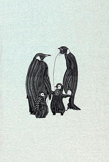 94760 Jersey fotoprint pingviner 37x55 cm