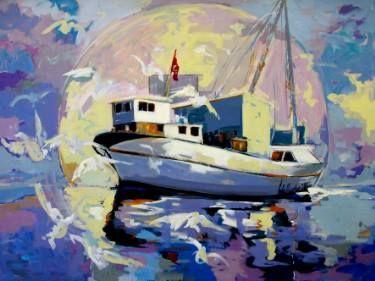 "Saatchi Art Artist Seba Art Gallery; Painting, ""balıkçı teknesi"" #art"