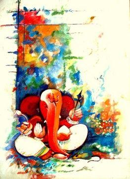 Colorful ganesh
