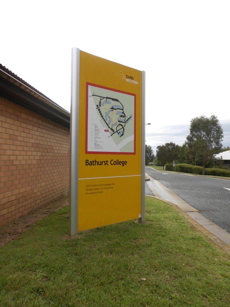 Bathurst College #CSI #signage #directions #wayfinding #business
