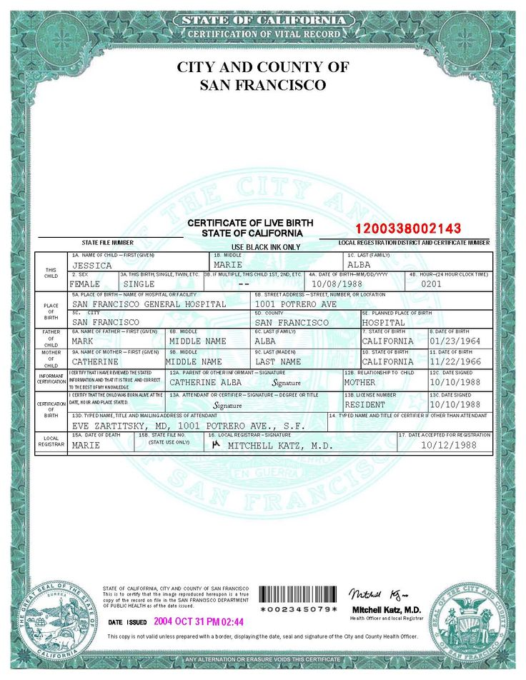 San Francisco Birth Certificate template Templates Pinterest - birth certificate word template