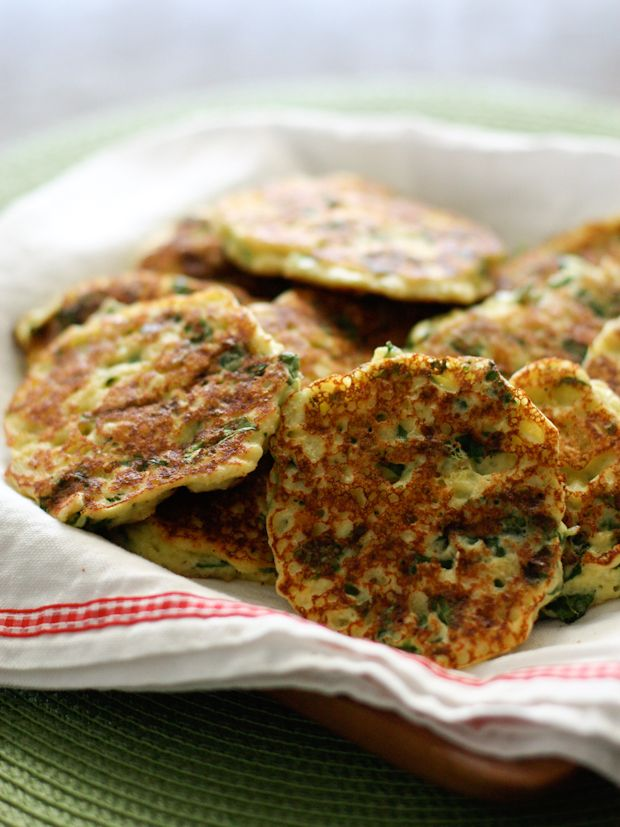 Ricotta and Spinach Fritters from @Aggie's Kitchen