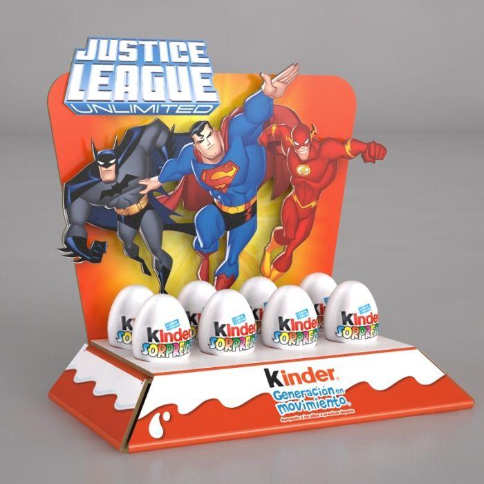 Kinder Counter Display (Justice League) - Ricardo García